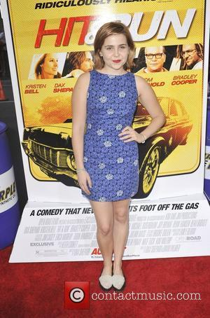 Mae Whitman,  at the Los Angeles premiere of 'Hit & Run' at the Regal Cinemas L.A. Live Los Angeles,...