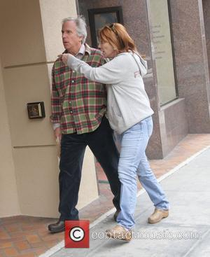 Henry Winkler visits the doctors office in Beverly Hills Los Angeles, California - 06.02.12