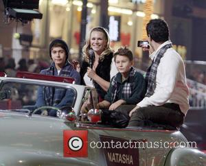 2012 Hollywood Christmas Parade Benefiting Marine Toys For Tots - Show  Featuring: Natasha Henstridge, Darius Campbell, FamilyWhere: Los Angeles,...