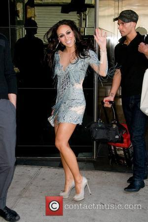 Melissa Gorga  leaving a Manhattan hotel ahead of the Bravo Upfront event New York City, USA - 04.04.12