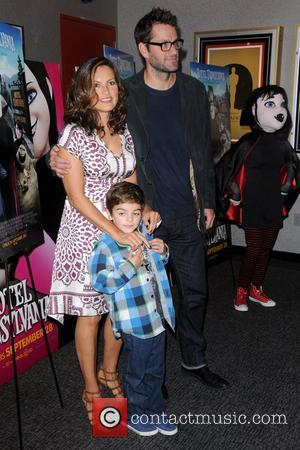Mariska Hargitay, Peter Hermann with son August Hermann New York screening of 'Hotel Transylvania' - Arrivals New York City, USA...