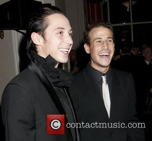 Johnny Weir, Victor Voronov 2012 HRC Gala held at the Waldorf Astoria Hotel - Arrivals  New York City, USA...