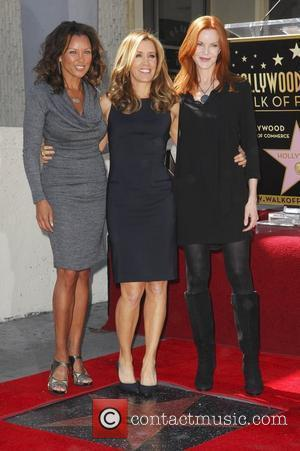 Vanessa Williams, Felicity Huffman, Marcia Cross and Walk Of Fame