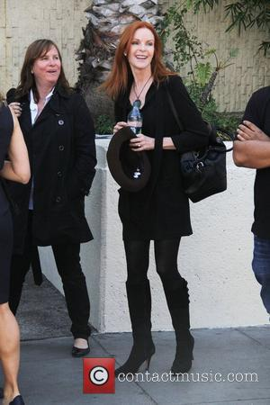 Marcia Cross and Walk Of Fame