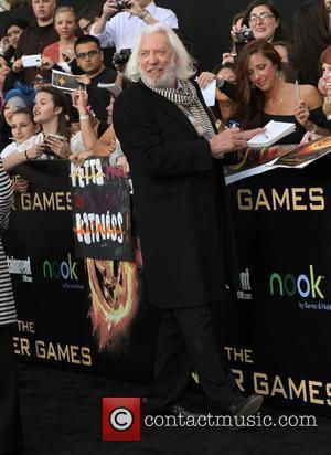 Donald Sutherland Los Angeles premiere of 'The Hunger Games' held at Nokia Theatre L.A. Live - Arrivals  Los Angeles,...