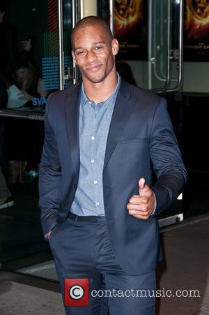 Victor Cruz  New York Premiere of 'The Hunger Games' at the SVA Theater - Arrivals  New York City,...