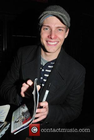Hunter Parrish signs autographs for fans outside Godspell on Broadway New York City, USA - 07.01.12