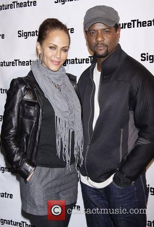 Nicole Ari Parker and Blair Underwood Opening night after party for 'Hurt Village' at Signature Theatre Company's Pershing Square Signature...