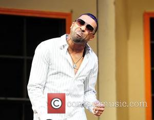 Ginuwine performs on stage at the Matthews gospel stage play 'I Need A Man' at James L. Knight Center Miami,...