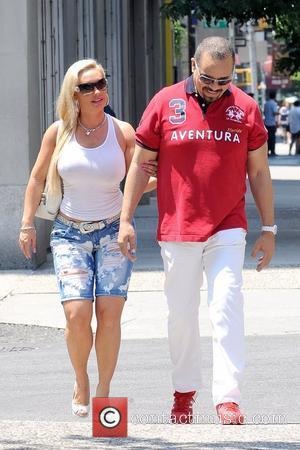 Coco Austin and Ice-T aka Tracy Marrow shopping in Soho during a heat wave in Manhattan New York City, USA...
