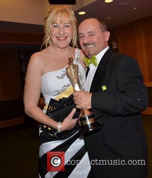 Brendan O'Carroll & Jenny O'Carroll  The Irish Film and Television Awards 2012 at the Dublin Convention Centre - Press...