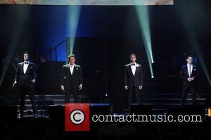 Sebastien Izambard, Carlos Marin, Urs Buhler and David Miller  Il Divo perform at the Hard Rock Live! in the...