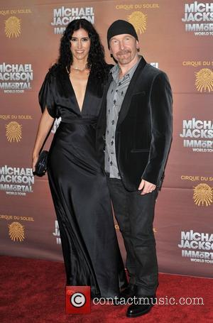 The Edge and Morleigh Steinberg Michael Jackson: The Immortal World Tour, stage production of Cirque Du Soleil - European premiere...