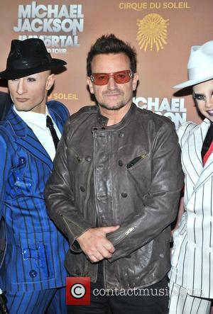Bono Michael Jackson: The Immortal World Tour, stage production of Cirque Du Soleil - European premiere held at The O2...