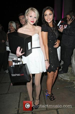 Hetti Bywater and Jacqueline Jossa,  at the Inside Soap Awards 2012 Sponsored by boohoo.com at One Marylebone - Departures...