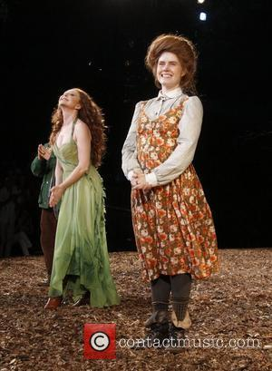 Donna Murphy and Amy Adams Opening night curtain call for the Public Theater production of 'Into The Woods' at the...