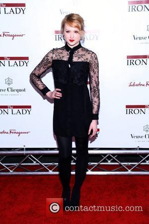 Kaylee DeFer  at the New York premiere of 'The Iron Lady' at the Ziegfeld Theater. New York City, USA...