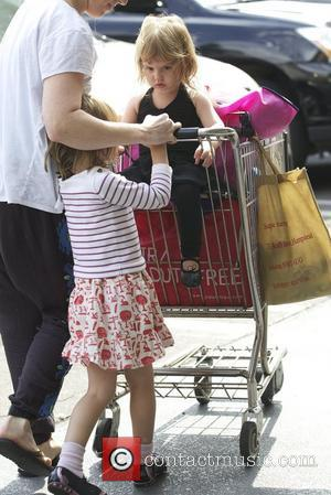 Isla Fisher  seen with her children Elula and Olive Cohen shopping at Whole Foods Los Angeles, California - 30.08.12