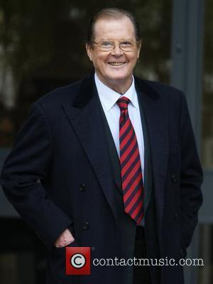 Roger Moore at the ITV studios London, England - 08.12.11