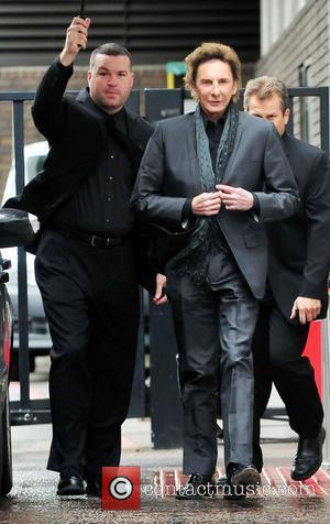 Barry Manilow outside the ITV studios London, England - 15.05.12