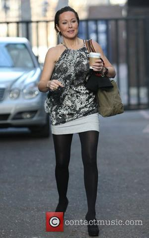 Amanda Mealing at the ITV studios London, England - 16.02.12