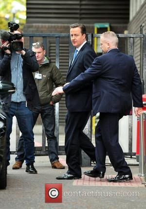 David Cameron leaves the ITV studios London, England - 18.05.12