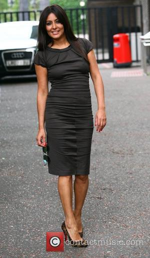 Laila Rouass outside the ITV studios London, England - 24.08.12