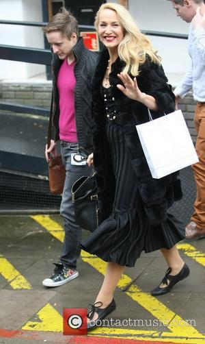 Jerry Hall at the ITV studios London, England - 11.10.12