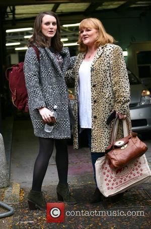 Lesley Nicol and Sophie McShera outside the ITV studios London, England - 22.10.12