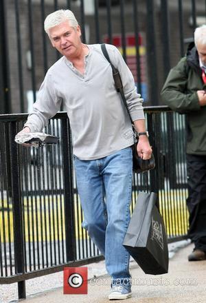 Phillip Schofield leaves the ITV studios London, England - 24.09.12