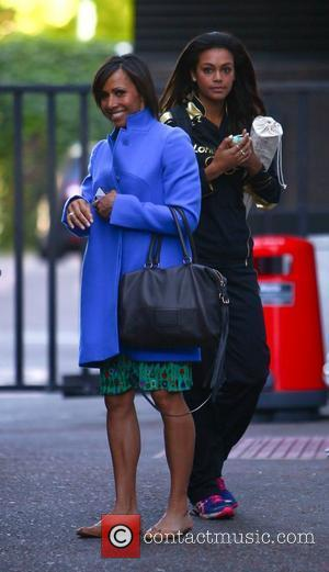 Adelle Tracey and Dame Kelly Holmes outside the ITV studios London, England - 30.07.12