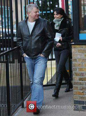 Adrian Chiles and Christine Bleakley outside the ITV studios London, England - 05.12.11