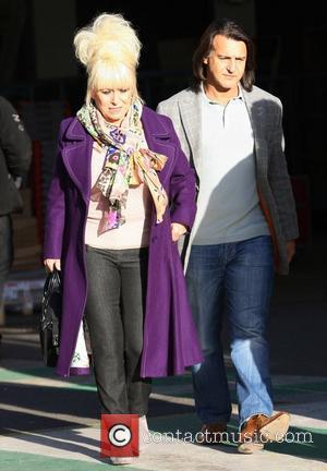Barbara Windsor and her husband Scott Mitchell  outside the ITV studios London, England - 14.12.11
