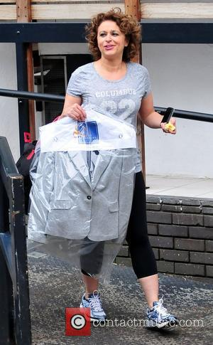 Nadia Sawalha leaves the ITV studios London, England - 18.05.12