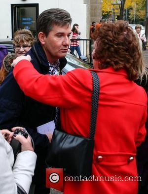 Daniel O'Donnell with his fan club outside the ITV studios London, England - 23.10.12