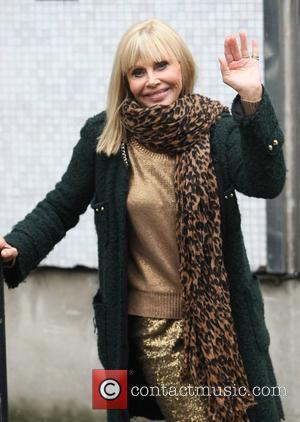Britt Ekland outside the ITV studios London, England - 24.09.12