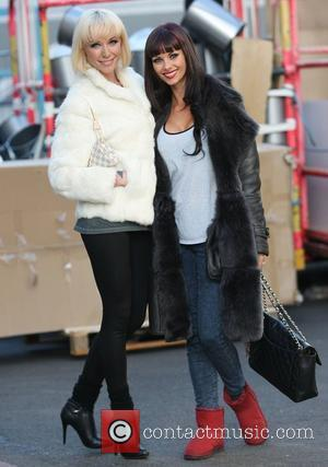 Emily Scott and Jessica-Jane Clement at the ITV studios London, England - 12.12.11