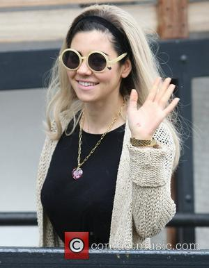 Marina Diamandis of Marina and The Diamonds  outside the ITV studios London, England - 23.04.12