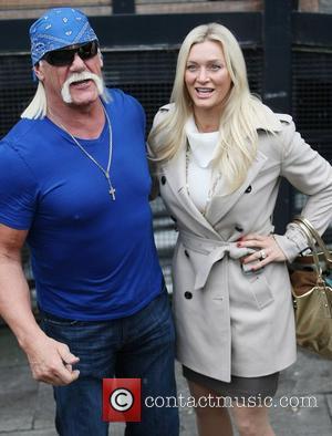Hulk Hogan and his daughter Brooke Hogan at the ITV studios London, England - 25.01.12