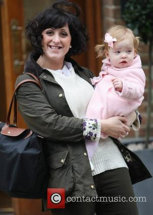 Natalie Cassidy and her daughter Eliza at the ITV Studios  London, England - 31.01.12