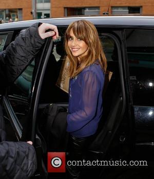 Samia Ghadie leaving the ITV studios with a personalised bag  Where: London, United Kingdom When: 03 Jan 2013