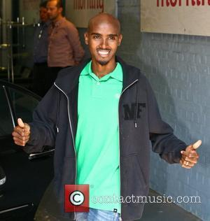 Mo Farah outside the ITV studios London, England - 03.09.12