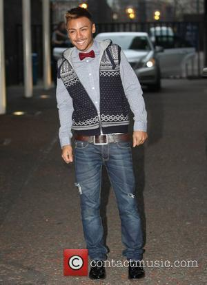 Marcus Collins outside the ITV studios London, England - 12.01.12