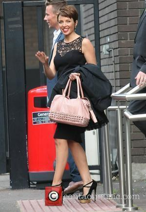 Dannii Minogue outside the ITV studios London, England - 12.09.12