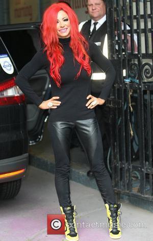 Jodie Marsh outside the ITV studios London, England - 25.06.12