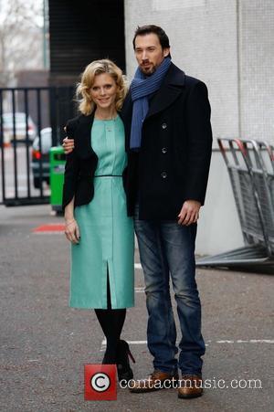 Emilia Fox; David Caves Celebrities at the ITV studios  Featuring: Emilia Fox, David Caves Where: London, United Kingdom When:...