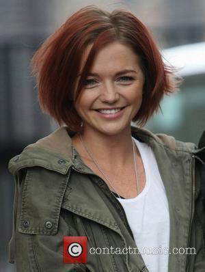 Hannah Spearritt at the ITV studios London, England - 15.02.12