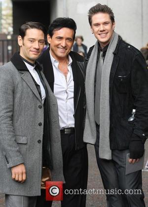 Il Divo outside the ITV studios  Featuring: Urs Buhler, Carlos Marin, David MillerWhere: London, United Kingdom When: 22 Nov...