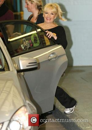 Charlene Tilton outside the ITV studios London, England - 12.01.12