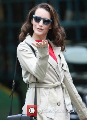 Kristin Davis outside the ITV studios London, England - 28.09.12